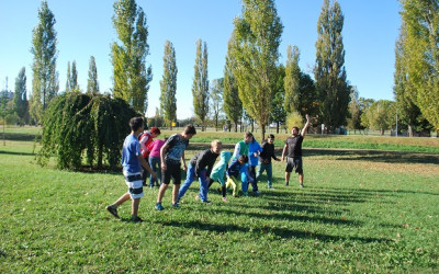 1. športni dan- kros in igre z žogo/ 1. sportnap- futóverseny és labdajátékok