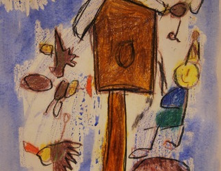 Risanje ptičjih krmilnic/ Madáretetők rajzolása