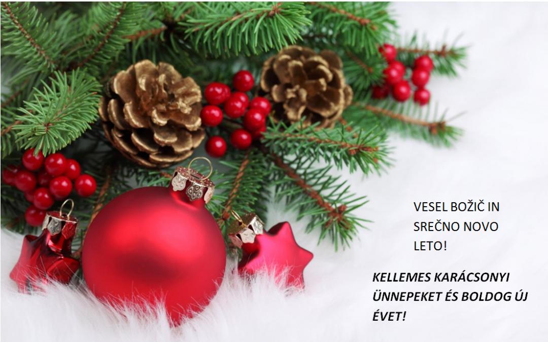 Božično-novoletno voščilo/ Karácsonyi-újévi üdvözlőlap