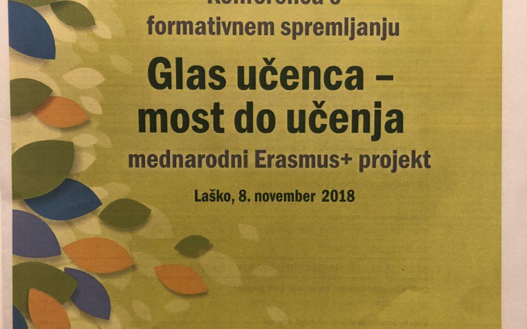 Konferenca o formativnem spremljanju z naslovom Glas učenca – most do učenja/ Formatív értékelés – konferencia Laškoban