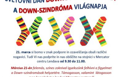 Vabilo: Svetovni dan Downovega sindroma/ Meghívó: A Down-szindróma világnapja