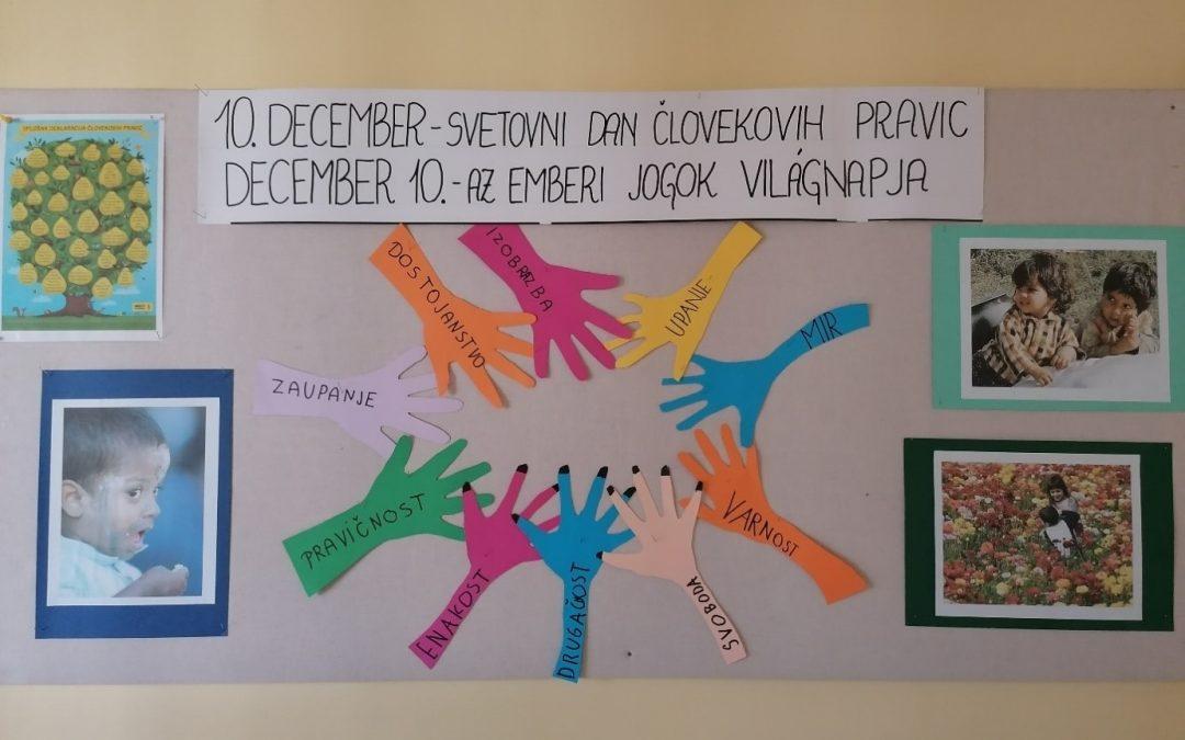 UNESCO: 10. december – Svetovni dan človekovih pravic/ December 10. – Az emberi jogok világnapja
